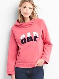 Colorblock logo pullover hoodie