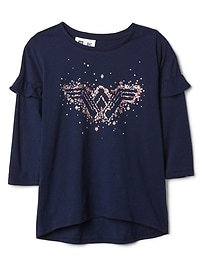 GapKids &#124 Wonder Woman&#153 ruffle sleeve tee