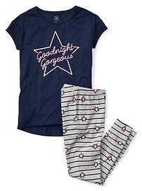 Pyjama à manches courtes à motifs d'étoiles