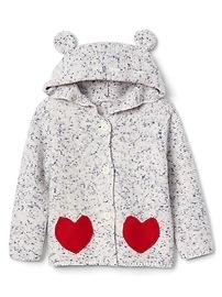 Heart pocket bear hoodie