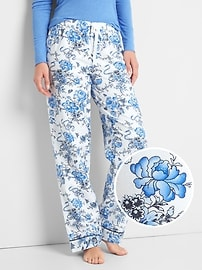 Print flannel sleep pants