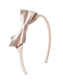 Rose gold bow headband