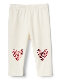 Heart graphic stretch jersey leggings