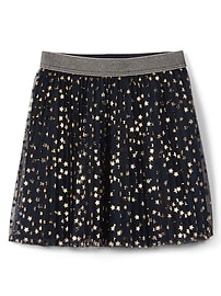 Foil star flippy skirt