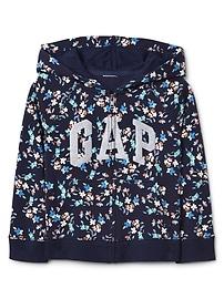 Logo raglan zip hoodie