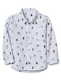 GapKids &#124 Disney Mickey Mouse poplin pocket shirt