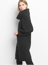 Cozy knit cowlneck dress