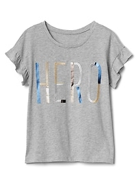 Flutter Sleeve Graphic T-Shirt
