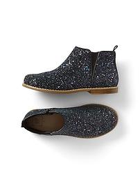 Glitter chelsea boots