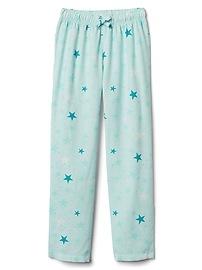 Print flannel PJ pants