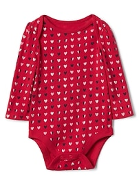 Heart long sleeve bodysuit