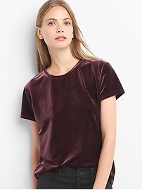 T-shirt en velours au sabre