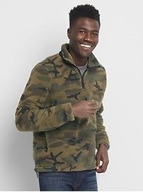 Sherpa half-zip sweater