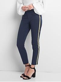 Gold stripe skinny ankle pants