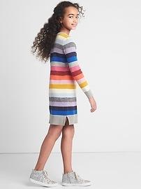 Crazy stripe sweater dress