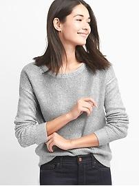 Metallic crewneck sweater