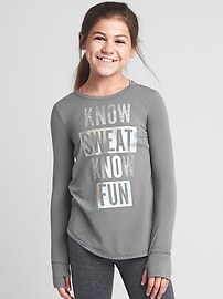GapFit kids sparkle long sleeve tee