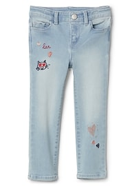 Embroidered Skinny Jeans with High Stretch