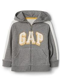 Fleece logo zip hoodie