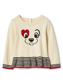 babyGap &#124 Disney Dalmatian peplum sweater