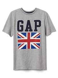 T-shirt à imprimé de drapeau