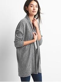 Softspun open-front cardigan