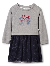 babyGap &#124 Disney mix-fabric dress
