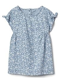 Floral Denim Dress