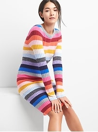 Robe côtelée en mélange de laine