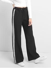 Pantalon en sergé de sport à jambe large