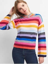 Crazy stripe pullover hoodie