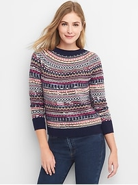 Limited Edition sequin fair isle pullover sweater