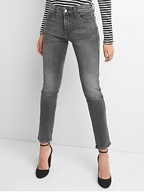 High Rise Slim Straight Jeans