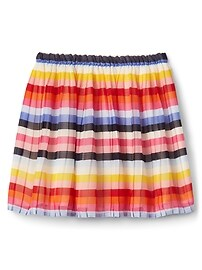 Crazy stripe shirred skirt