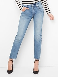 Cone Denim&#174 Super High Rise Straight Jeans