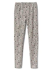 Print soft terry leggings