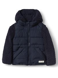 2-in-1 sherpa jacket