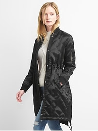 Long quilted bomber