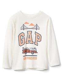 T-shirt à manches longues avec logo «City»