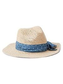 Chambray Band Panama Hat