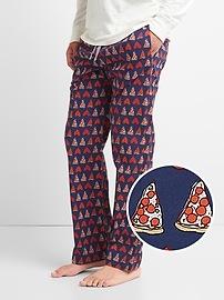 Pantalon de pyjama en popeline à imprimé