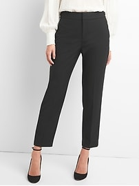 High rise tapered ankle pants