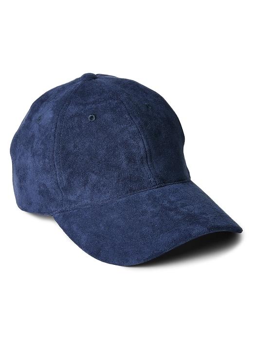 Faux Suede Baseball Hat by Gap