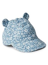 Floral Bear Baseball Hat