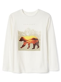 T-shirt à imprimé à manches longues