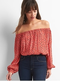 Drapey off-shoulder top