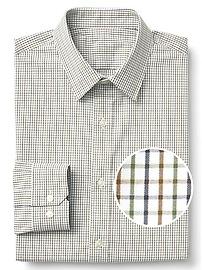Zero-wrinkle standard fit shirt