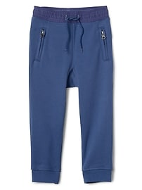 Zip Pull-On Pants
