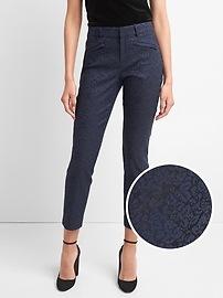 Jacquard skinny ankle pants