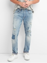 Cone Denim&#174 Destructed Jeans in Skinny Fit with GapFlex